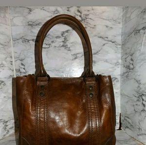NEW!FRYE Leather Melissa Tote DARK BROWN